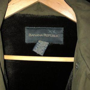 Banana Republic Army Green Heavy Coat
